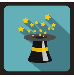 Magician hat icon flat style vector