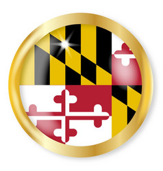 Maryland flag button vector