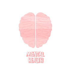 mental health human brain vector image