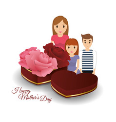 Mom with kids togetherness mothers day gift vector