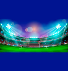 Night sports stadium with lights vector
