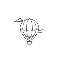 park and playgroundair balloon icon linear vector image