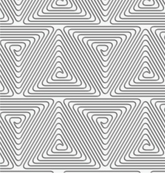 Perforated triangle connected spirals vector image