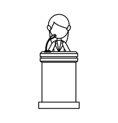 Podium of speech isolated icon vector