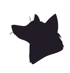 portrait of a fox silhouette vector image