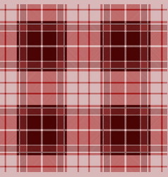 Red tartan plaid seamless pattern vector