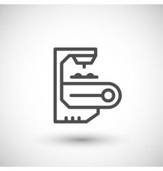 Robotic conveyor line icon vector