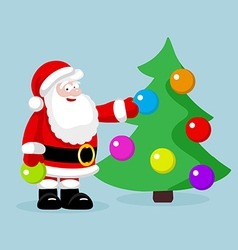 Santa Claus with christmas tree vector image