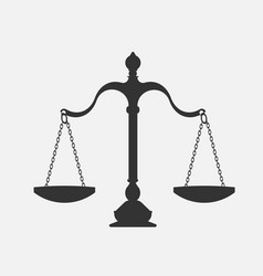 scales justice vector image