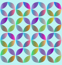 Seamless pattern with rounded geometric elements vector