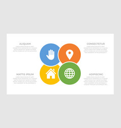 set blue and orange yellow green elements vector image