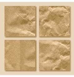 Set crumpled paper vector