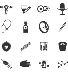 Set icons gynecological vector