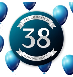 Silver number thirty eight years anniversary vector