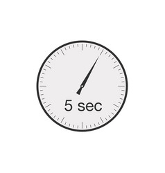 Simple 5 seconds or 5 minutes timer stock vector