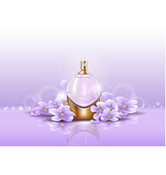 Sprayer or perfume glassware bottle for aroma vector