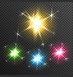 Starburst light effect transparent image vector