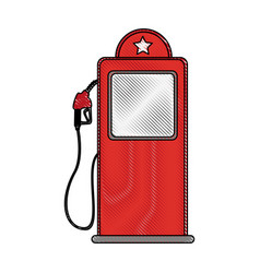 station service pump isolated icon vector image