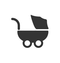 Stroller icon vector