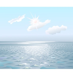 Sunrise on the sea vector image