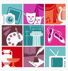 Symbols arts vector