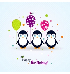 Template birthday greeting card scrap vector