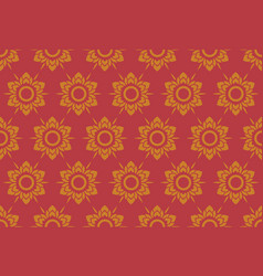 Thai pattern floral seamless vintage style vector
