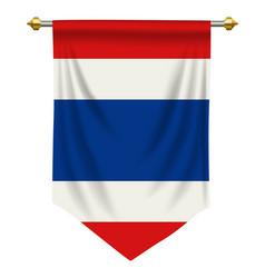 Thailand pennant vector
