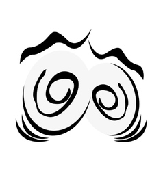 traumatized cartoon eyes icon vector image