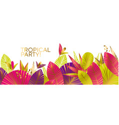 tropical leaves decorative abstract pattern vector image
