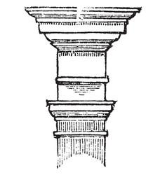 Tuscan order ornament vintage engraving vector