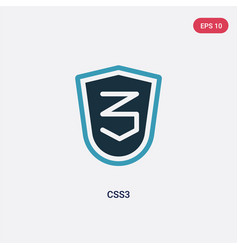 two color css3 icon from technology concept vector image