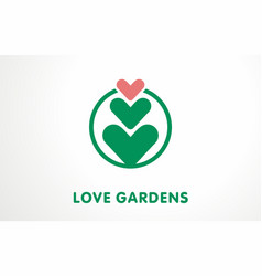 unique symbol for plant lovers logo sign vector image