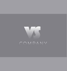 vs v s pastel blue letter combination logo icon vector image