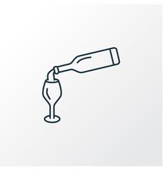 wine bottle icon line symbol premium quality vector image