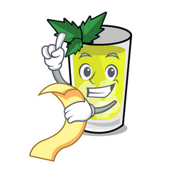 With menu mint julep mascot cartoon vector