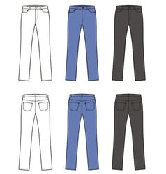 Woman jeans vector