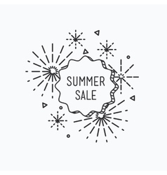 Big summer sale shining banner colorful vector image vector image