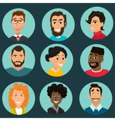 Faces set People avatars collection vector image vector image