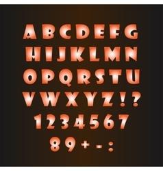 Glowing alphabet on a dark background vector image