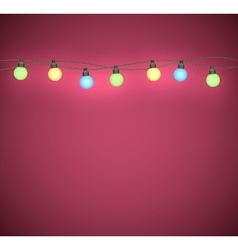 Light bulbs garland vector image vector image
