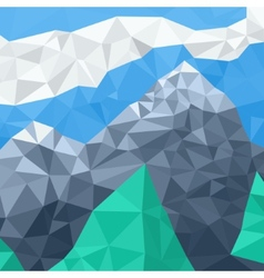 Mountain landscape mosaic in the summer vector image vector image