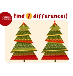 Big Christmas tree in traditional color style Kid vector image vector image