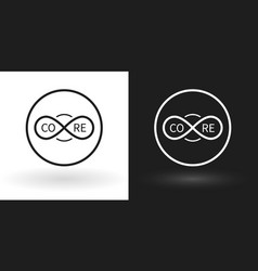 creative core icon using the sign of infinity vector image vector image