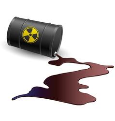 Barrel with toxic liquid vector image vector image