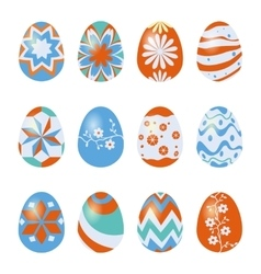 easter eggs isolated on white vector image vector image