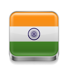 Metal icon of India vector image