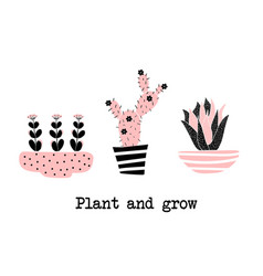 pland and grow vector image vector image