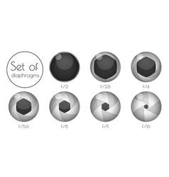 set the lens aperture vector image vector image