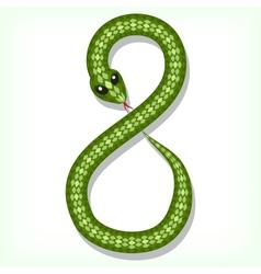 Snake font Digit 8 vector image